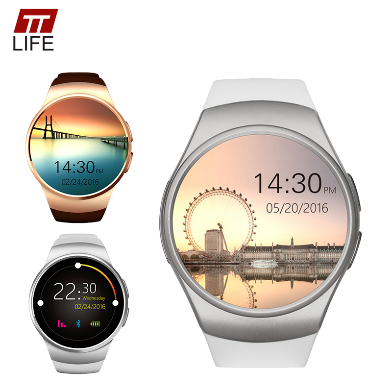 ФОТО [ In stock ] TTLIFE KW18 Bluetooth smart watch full screen Smartwatch Phone Support SIM TF Card Heart Rate for apple android OS