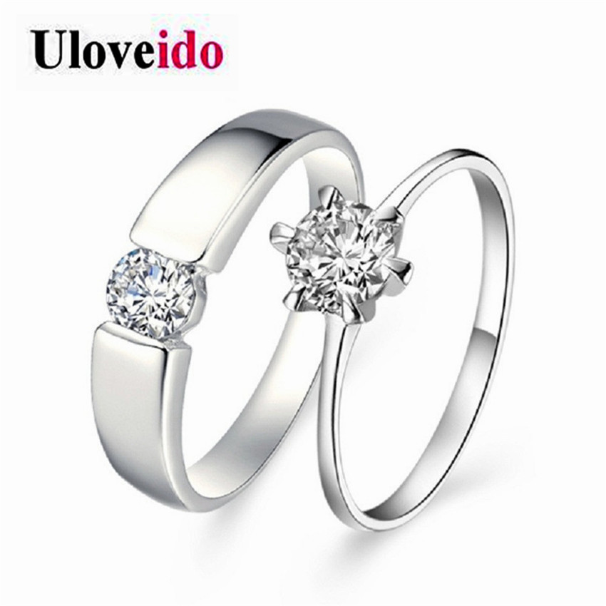 Crown Cross Ring Jewelry Love Zircon Wedding Lovers Couple Rings Jewelry Gift