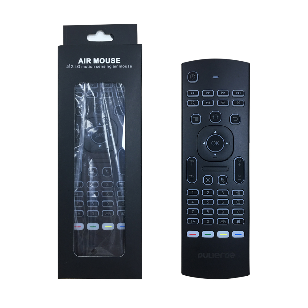 PULIERDE MX3 Pro 2.4GHz English Wireless Keyboard IR learning extend Remote Control Backlit With Voice Mini Air Mouse For TV Box