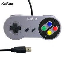 KaRue USB Controlador de Jogo Joystick Gamepad Controlador para SNES Game pad para Windows PC Computador Joystick De Controle 2 PCS