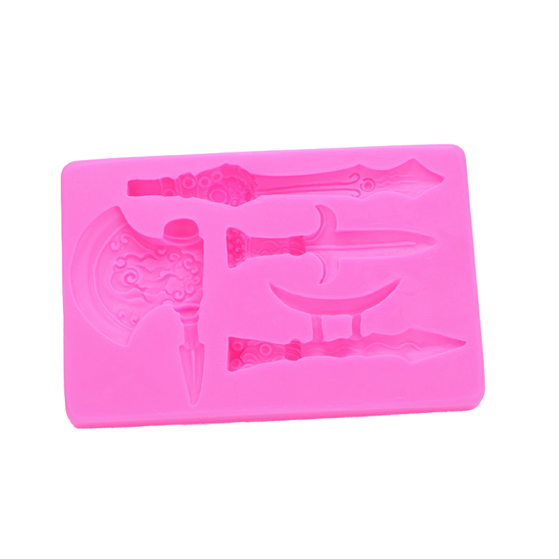 3D Ancient Weapon Shape Fondant cake silicone mould soap Kitchen for Gum paste Chocolate Trim molding removal tool set FT-0524