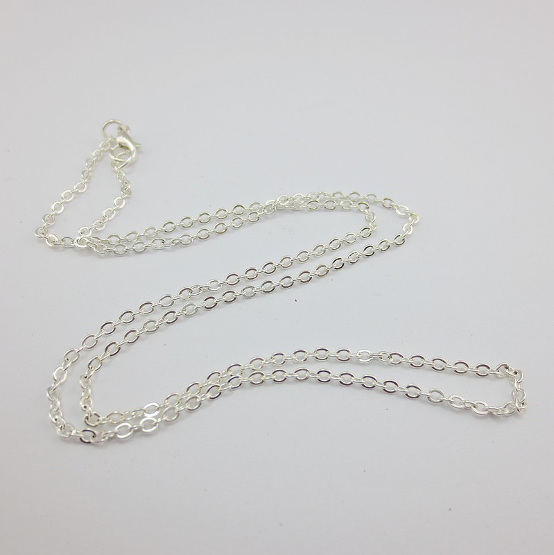 Free Shipping 2017 new fashion royal Silver Plated Lobster Clasp Cable Link Chain Necklace punk noble women trendy 12pcs per lot