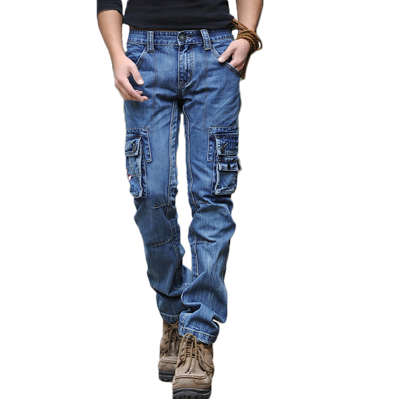 Fashion Mens Ripped Skinny Jeans Pleated Frayed Slim Fit Denim Pant Zipper 30-40