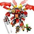 Trueno Espadachín Ninjagoes Serie Modelo Building BLock Sets Compatible legoe Puede combinarse Deformación