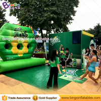 Free express 380*190*330CM giant inflatable football / basketball shooting games outdoor games for physical exercise sport toy