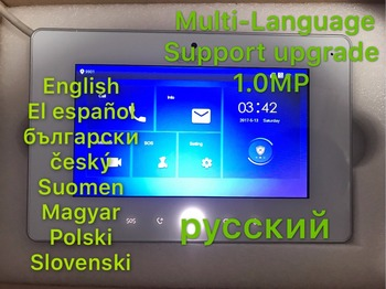 Dahua видеодомофон сенсорный экран Цветной Монитор Крытый VTH5221DW-CW, 1MP камеры, WI-FI подключение