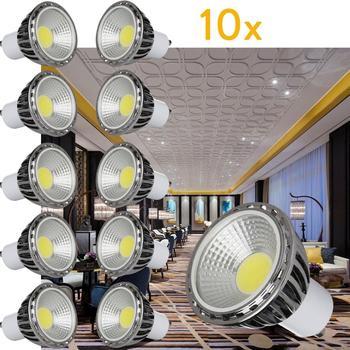 цена на 10Pcs/Set Ultra Bright LED COB Spotlight 5W GU10 Light Bulb AC 220V 240V 110V Spot light Lamp Warm/Cool White 6000K