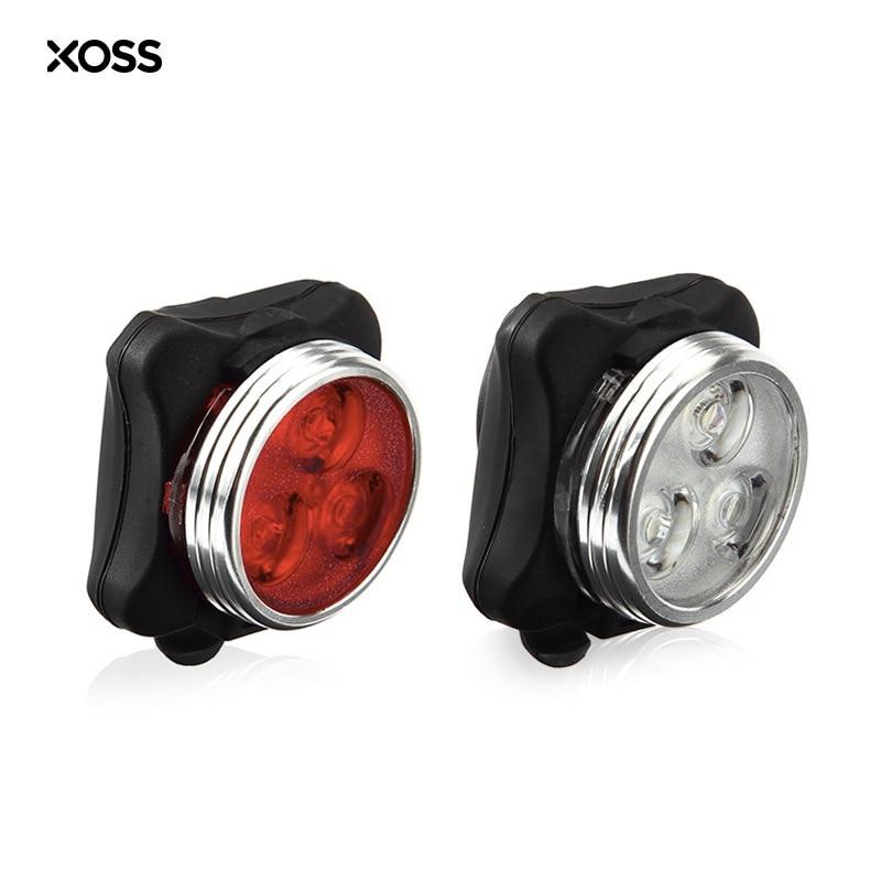 XOSS Bicycle Lights USB Charging LED Rear Bike Cycling Aluminum Alloy With 3 LED 160 Lumen Sports Bike Frame Mount Safety