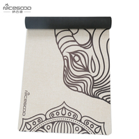 Organic Jute Yoga Mat Skid Resistant 4 5 Mm Thick Natural Rubber Pilates Mat Babar The