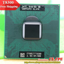 intel CPU laptop Core 2 Duo T8300 CPU 3M Cache/2.4GHz/800/Dual-Core Socket 479Laptop processor for GM45/PM45(China)