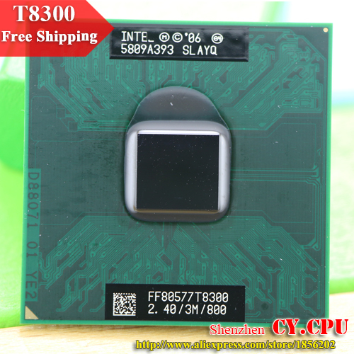 Intel CPU máy tính xách tay Core 2 Duo T8300 CPU 3 m Bộ Nhớ Cache/2.4 ghz/800/Dual-Core ổ cắm 479 Máy Tính Xách Tay bộ vi xử lý cho GM45/PM45