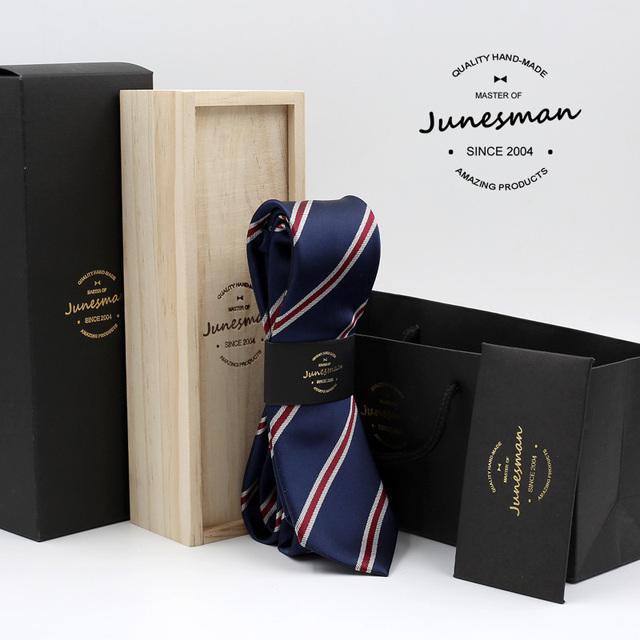 2016 hombre delgado boda corbata de seda corbata skinny hombres mariage kravat gent diseñador de rayas corbata regalo marido con lana caja