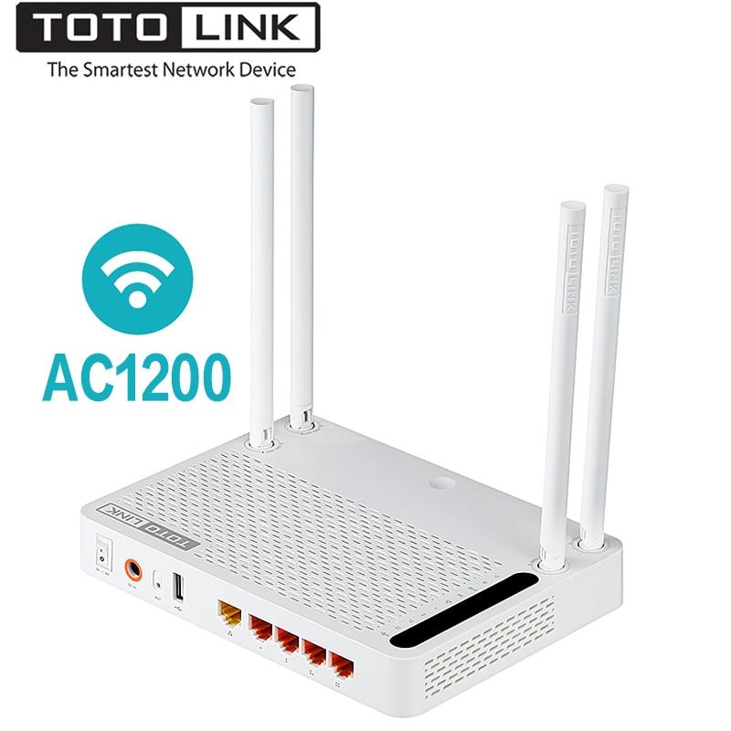 TOTOLINK A3002RU AC1200 Sans Fil Routeur Intelligent Double Bande 2.4 GHz/5.0 GHz Gigabit Wifi Routeur Sans Fil Répéteur, Russe firmware