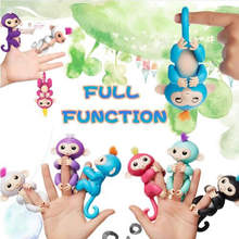 6 colors Cute Smart Colorful Finger Baby Monkey Animal Interactive Monkey Baby Toy Electronic Finger Pets finger monkey(China)