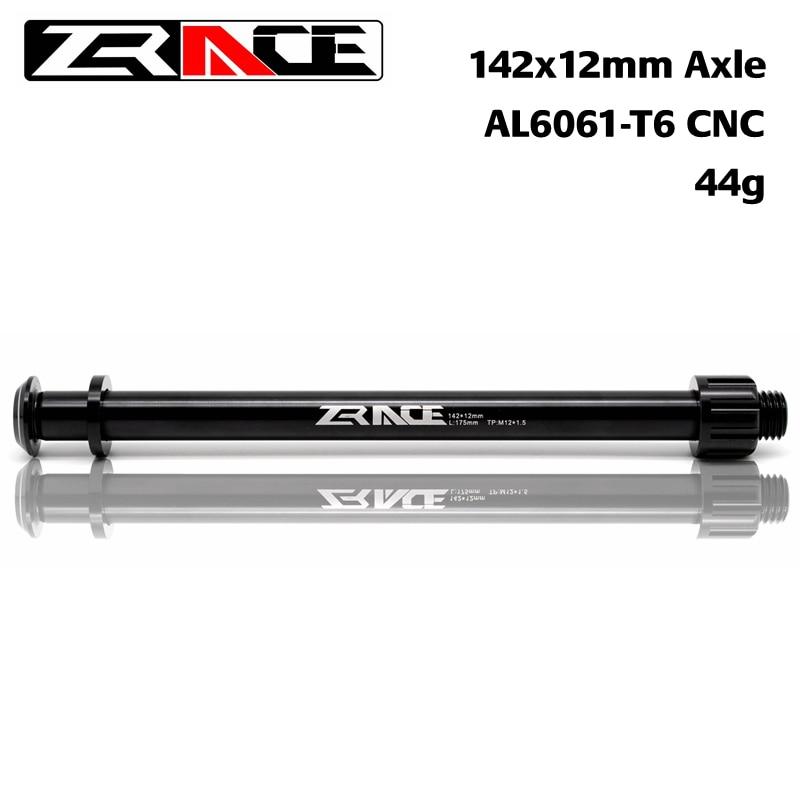 ZRACE 142x12mm a través del eje MTB, ejes del eje de la bicicleta, CNC AL 6061, cubo trasero de la bicicleta Compatible con marco de 175mm