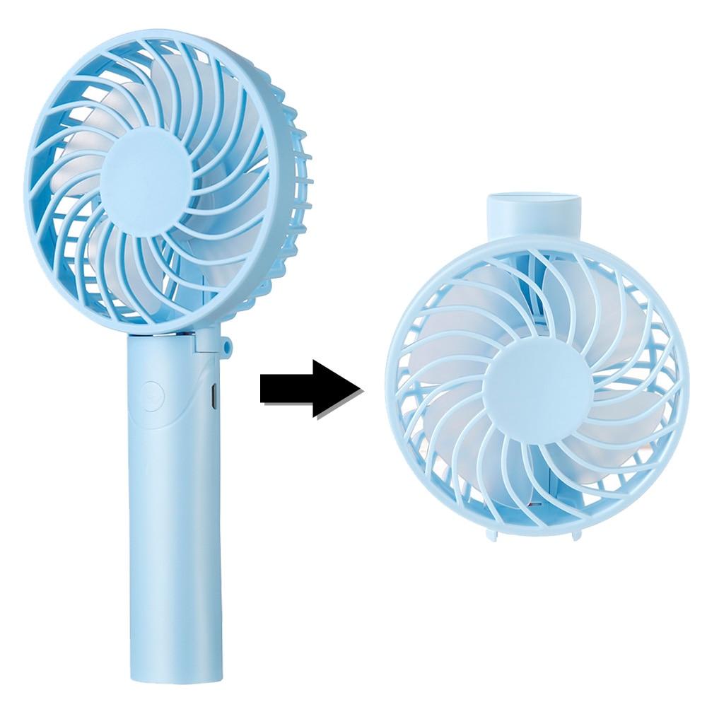 Air Cooler Desktop Cat Fan USB Mini Handheld Portable Small Fan 2 Gear 7 Blade Personal Fan Color : Purple