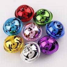 10pc colorido metal jingle bells grânulos soltos festival decoração de festa/decoração da árvore de natal do animal de estimação/diy artesanato acessórios