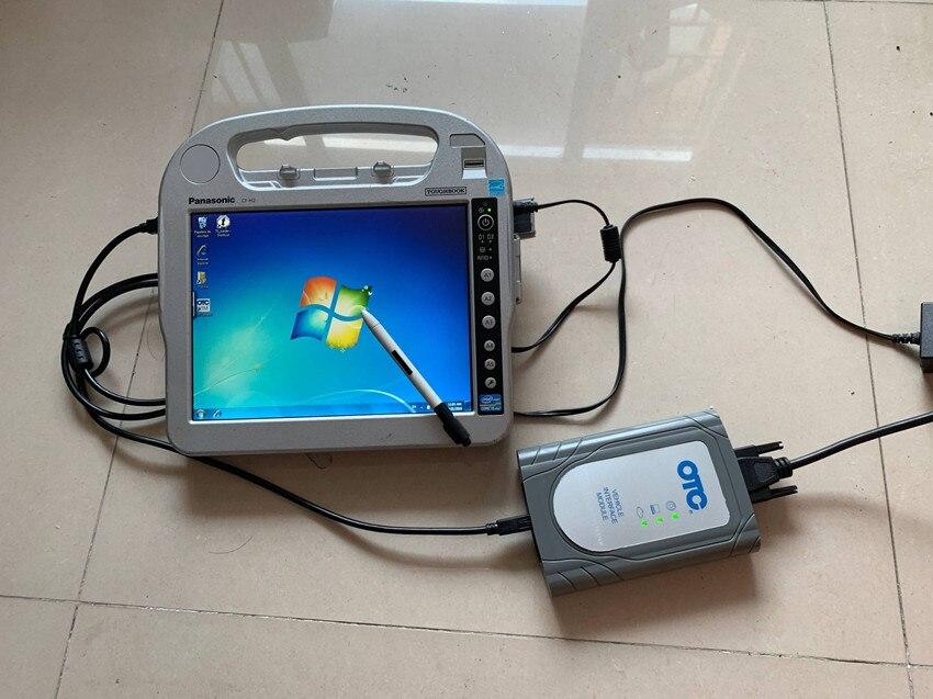 Для toyota диагностический инструмент otc it3 сканер программного обеспечения с ноутбуком cf h2 нетбука i5 кабели полный комплект готов к использованию 2 года гарантии