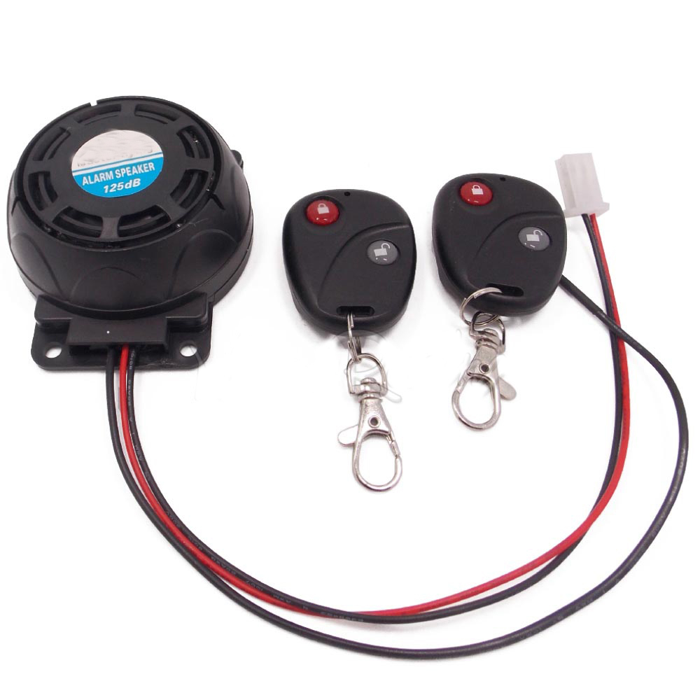 Universal Motorcycle Motor Alarm Scooter Anti-theft Security Alarm System 2 Remote Control Wireless Motorbike Protective Alarm