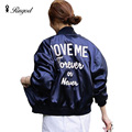 Punk Style Bomber Jacket Women 2017 Letter Embroidered Baseball Jackets Fashion Street Coat Casual Outerwear jaqueta feminina