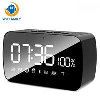 Portable Wireless Bluetooth Speaker Mini LED Alarm Clock with FM Radio Snooze Function Home Decoration Desk Digital Table Clock