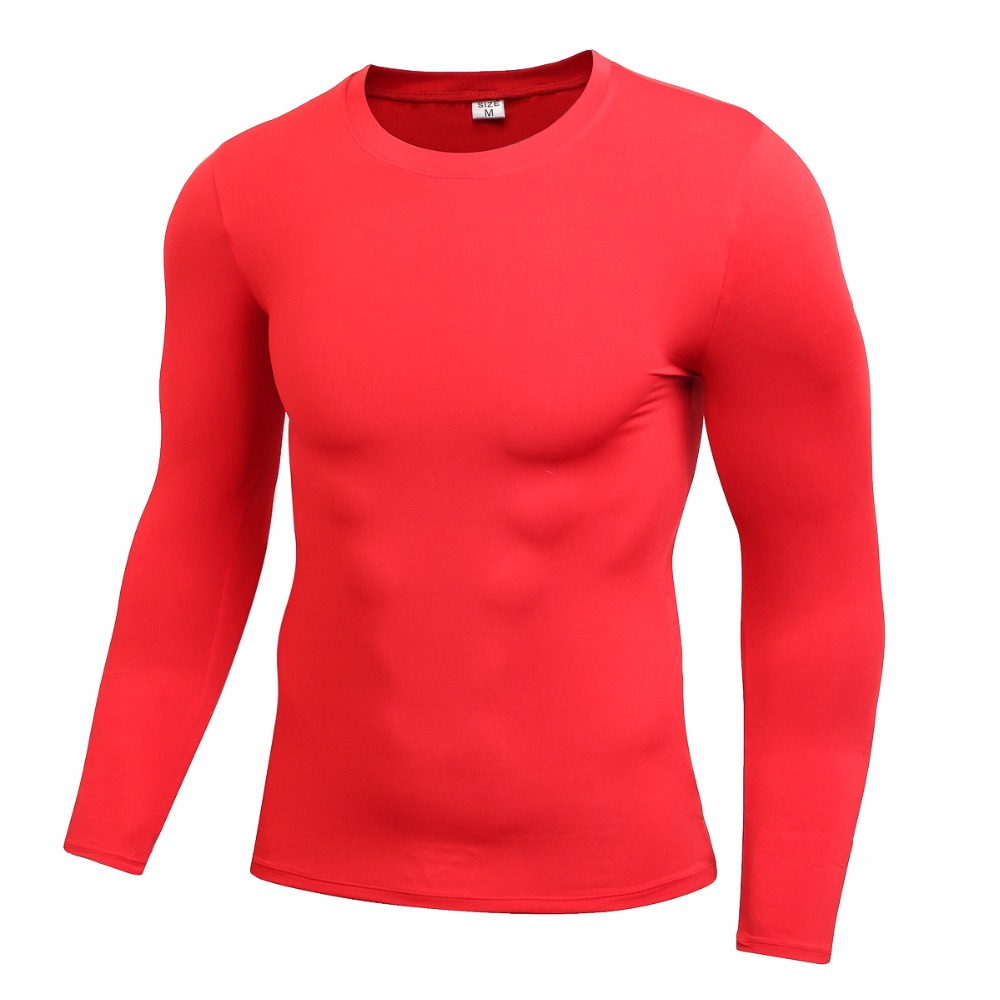 Compression men 39 s long sleeves dri fit shirt base layer for Dri fit dress shirts