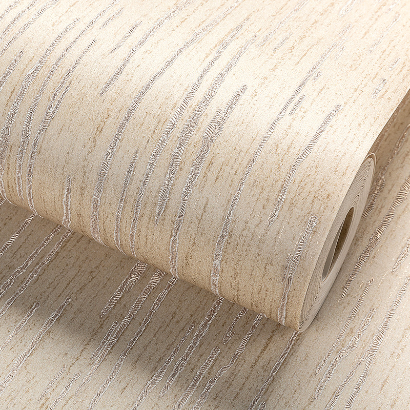 Modern Linen Wall paper Designs Beige Non-woven 3D Textured Wallpaper Plain Solid Color Wall Paper for Living Room Bedroom Decor