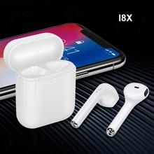 I8x tws Audifonos Fones De Ouvido Sem Fio Bluetooth estéreo fone de Ouvido Earbuds Esporte Treino Dupla Fones De Ouvido com Microfone para A Apple Android