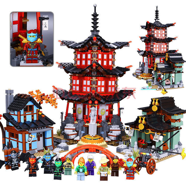 Compatible with Lego Ninja 70751 2150 pcs  06022 blocks Ninja Figure Temple of Airjitzu toys for children building blocks 70603 compatible with lego ninjagoes 70596 06039 blocks ninjago figure samurai x cave chaos toys for children building blocks