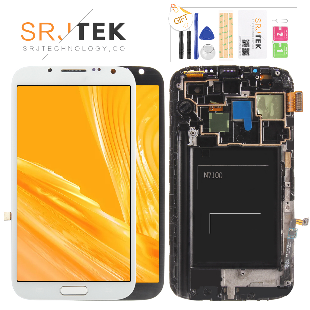 SUPER AMOLED 5.5 LCD for Samsung Galaxy Note 2 LCD N7100 Note2 N7105 Display Touch Screen Digitizer Assembly Replacement PartsSUPER AMOLED 5.5 LCD for Samsung Galaxy Note 2 LCD N7100 Note2 N7105 Display Touch Screen Digitizer Assembly Replacement Parts