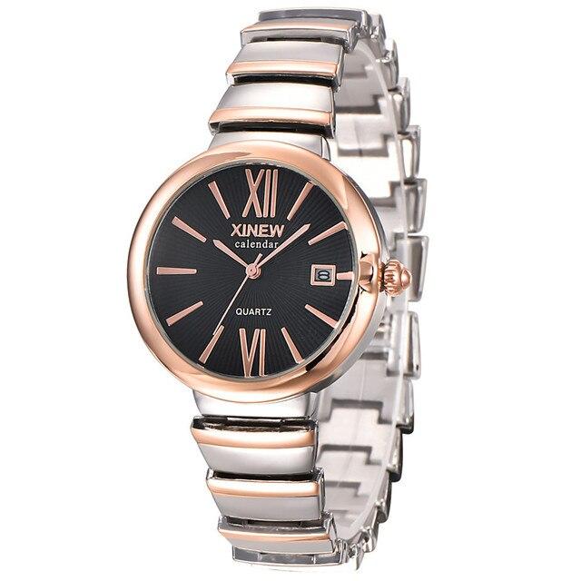 1c975822b064 Fashion Luxury Ladies Women Girl Unisex Stainless Steel Quartz Date Wrist  Watch Fast shipping Vico