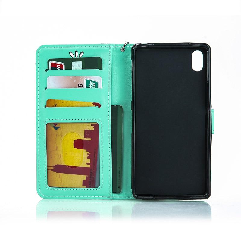 Golden Butterfly Wallet Flip Case For Sony Xperia Z2 Z3 Z4 Z5 mini Compact M2 M4 M5 Aqua C5 C6 L1 E5 XZ XR XZP X XA XA1 2017 B13