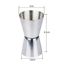 Measuring cup 2020 Jigger Single Double Shot Short Drink Spirit Measure Cup Cocktail Bar Party Wine july31