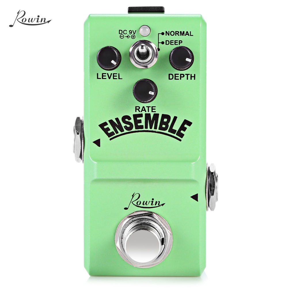 ROWIN Ensemble Classic Analog Chorus Guitar Effect Pedal True Bypass Design Aluminum Alloy Housing mooer ensemble king chorus effect pedal analog guitar effects true bypass with free connector and footswitch topper