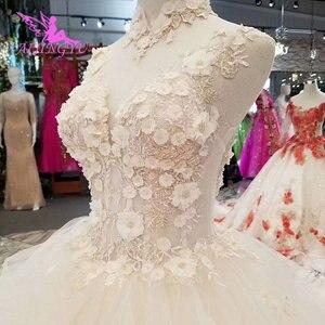 Image 2 - Платье с длинным шлейфом AIJINGYU, винтажное платье в стиле бохо, кружевное свадебное платье для невесты, индийское длинное платье с открытой спиной, античные свадебные платья