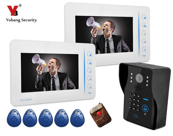 Yobang Security-7 Doorbell Intercom System Doorphone Intercom Doorbell Camera Monitor for Villa Home Door Phone Door Intercom yobang security 7 inch video door phone visual doorbell doorphone intercom kit with metal villa outdoor unit door camera monitor