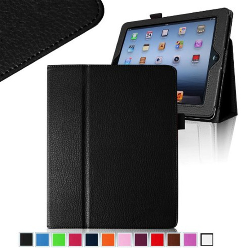 For Apple ipad 2 3 4 Magnetic Auto Wake Up Sleep Flip Litchi Leather Case For new ipad 3 ipad 4 Cover with Smart Stand Holder zoyu for apple ipad air1 2 magnetic auto wake up sleep flip leather case for new ipad 5 6 cover with smart stand holder