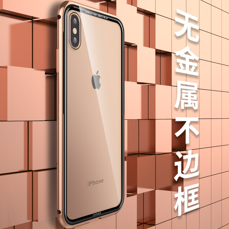 For IPhone XS Max Case Luxury Aluminum Alloy Metal Frame Clear Tempered Glass Case For IPhone XS XR X 7 8 Plus Hybrid Armor Capa