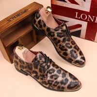 2017 Leopard Men Shoes Flat Point Toe Espadrilles Slip On Sapatilha Hot Sell Wedding Shoes Spring
