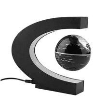 Moda Decoración Del Hogar LED Flotante Tellurion C Forma Levitación Magnética Flotante Globo Del Mundo Mapa De Luz LED EE. UU./REINO UNIDO/Enchufe de LA UE