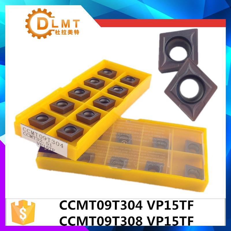20pcs / مجموعه CCMT09T304 VP15TF CCMT09T308 VP15TF کاربید - ماشین ابزار و لوازم جانبی