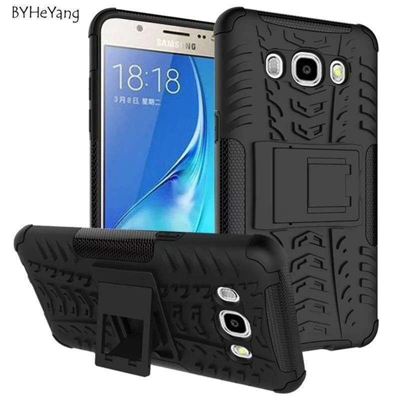 Galleria fotografica BYHeYang TPU+PC Cool Case For Samsung Galaxy j5 2016 Heavy Duty armor Case Stand Cover For Samsung Galaxy j5 2016 J510 case