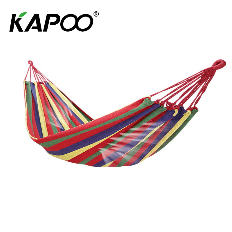 190*80cm Colorful Canvas Fabric Camping Hammock Garden Camping Swing Hanging Bed Outdoor Furniture Hamacas De Dormir Ramak At Any Cost Camping & Hiking Sleeping Bags