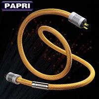 PAPRI MPSource яд AC мощность кабель 99.99997% OCC HiFi динамик аудио кабели 24 К позолоченный Hi End для усилитель CD DVD