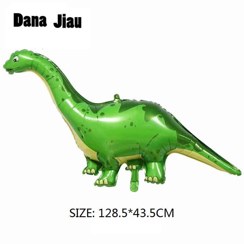 Dana Jiau NEW dinosaur Foil Balloon Birthday party decoration Kids Toy Inflate helium Ballon animal zoo theme decorate ball