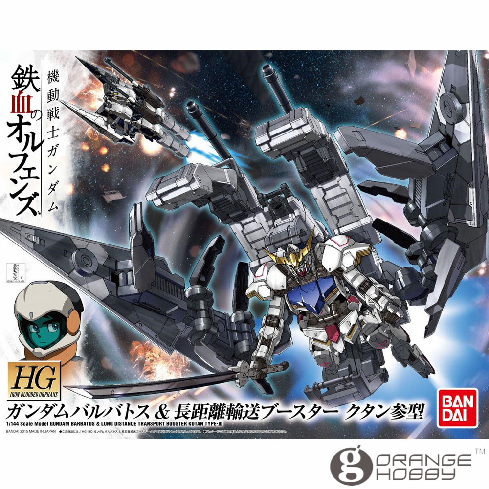 OHS Bandai HG Iron-Blooded Orphans 007 1/144 Gundam Barbatos & Long Distance Transport Booster Kutan Type-III Model Kits смазка hi gear hg 5509