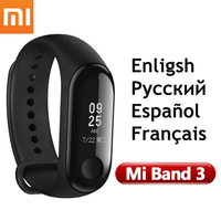 Original Xiaomi Mi Band 3 Mi Band 2 MiBand 3 Fitness Tracker OLED Big Touch Screen Smart Wristbands Bracelet Heart Rate Fitness