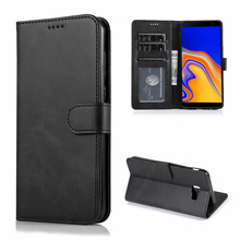 For Samsung Galaxy J4 Plus Case High Quality Flip Leather Cases Stand PU Cover