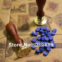 Stamp Seal Sealing Wax Vintage Classic Antique Blessings Greetings Gift Craft Brass Color Love Thank You