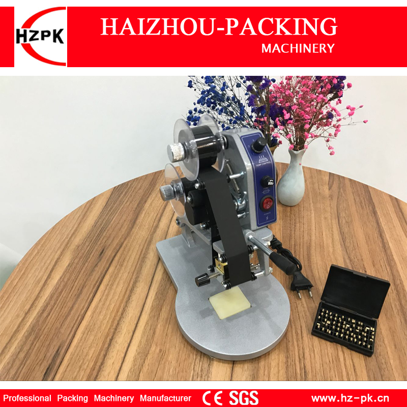 HZPK Color Ribbon Hot Coding Machine Heating Foil Manual Stamps Code Printing Machine Labels Plastic Bag Printer Machine DY-8 цена 2017